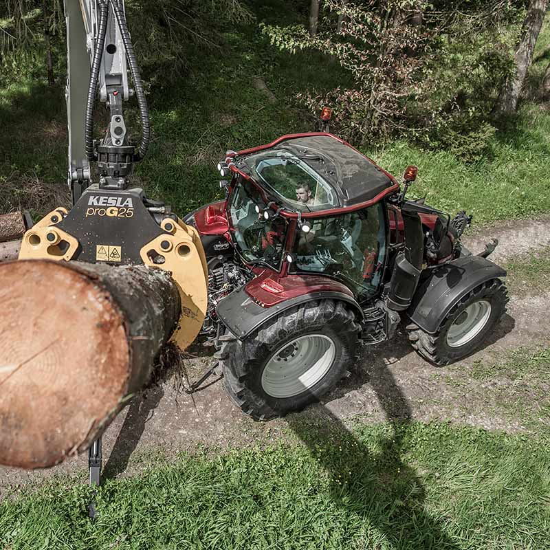 valtra n4 series at forestry work